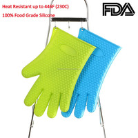 buy chinese products online FDA approved food grade 5 fingers kitchen grill cooking oven silicon bbq heat resistant grill gloves