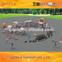 jeguetes avanzados de plástico de China de 2015 y equipos de patio con certificación para niños marca de fábrica ASTM EN1176