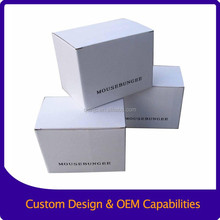 Simple ink print White corrugated paper box