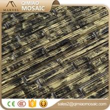 Mix Colors Printing Glass Tile Long Strip Glass Mosaic Border