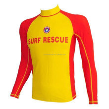 women men adult swim rash guard top swim tee rescue life saving wear Sun protection