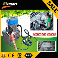 CE 6KW automatic mobile steam car washing machine/machine dry wash car professional steam cleaner