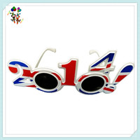 2014 GB UK Happy New Year Fancy Dress Party Glasses HPC-2215