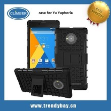 hybrid rugged mobile phone case for Yu Yuphoria with kickstand
