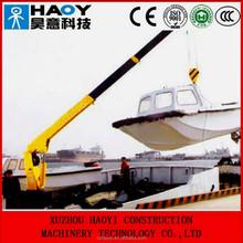 8 ton marine crane mobile harbour crane with hydraulic 4 telescopic booms radio control for sale