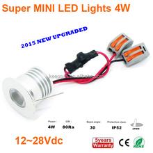 Reliable quality 110LM/W 80Ra 12V/24V led downlight accessories 1W 2W 3W 4W Mini light CE ROHS 5years