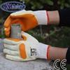 NMsafey orange latex gloves natural polycotton liner rubber work gloves Economy