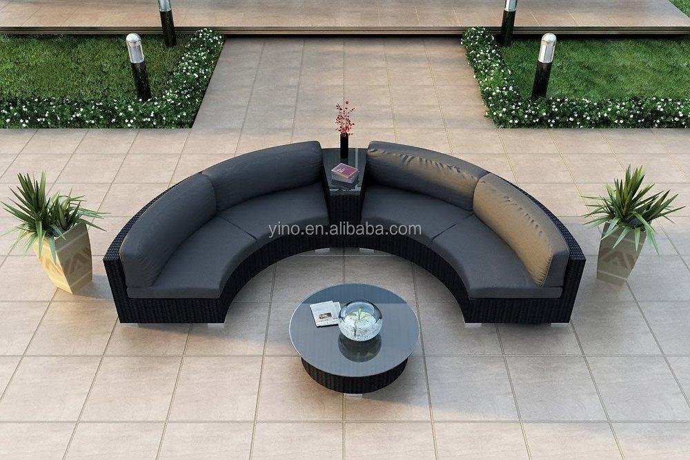 luxus-stil rattan sitzgarnitur balkon sitzgruppe modernen