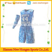 Latest camouflage basketball jersey/basketball uniform/basketball wear