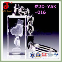 2015 New Arrival Silicone Bulk Promotion Gift Accept OEM 3D Laser LED Crystal Keychain For Kids&Teenagers Key Chains