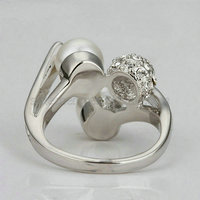 Simulated Diamond 18k Gold Plated 18kg ring jewelry