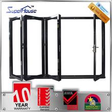 Aluminum thermal break double glazed insulated indoor folding door