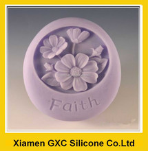 Handmade Silicone Rubber Soap Molds with Faith Artificial Flower