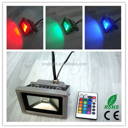 ce rohs approval warranty 3 year Cheap cost high quality ip65 rgb 10w led flood light bulb