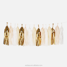 New Product Tissue Paper Tassel Garland for Wedding Decoration