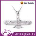 fascinante a forma de águia cz pedra 925 encanto da prata esterlina pingente