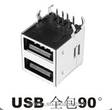 usb a type 90 degree female connector 2 port usb socket