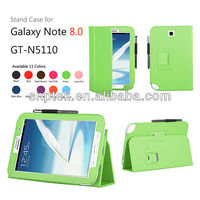 Multi angle foldable Luxury Leather PU STAND case for samsung galaxy note 8.0 GT-N5110 tablet