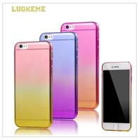 Gradual Change Clear Transparent Soft TPU Case For Apple iphone6
