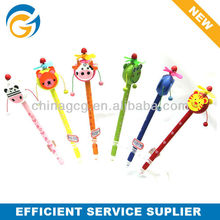 Lovely Animal Wooden Drum Shaped Pencil