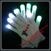 Popular Flashing LED Light Gloves with Nylon Material