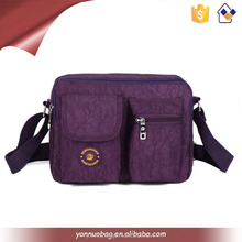manufacturers wholesale multi pockets waterproof nylon sport shoulder bag for teenagers made in china