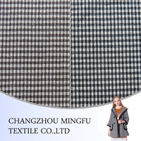 2016 new design narrow stripe wool suit fabric, woolen fabric for coats, houndstooth gird wool fabric