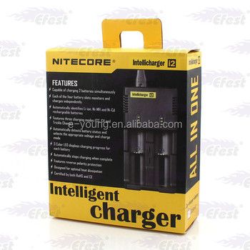 Travel Charger Sysmax Nitecore I2 multi charger Li-ion rechargerable battery charger for Japan Sanyo Li-ion battery/Efest batter