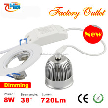 dimmable led spot light mr16 5w 8w 110V 220v ra>85/led mr16 dimmable