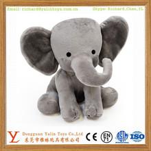 cute lifelike soft baby plush grey elephant toy stuffed elephant doll