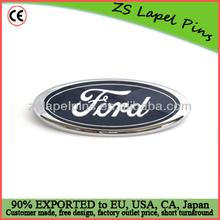 car logo lapel pin/ silver plated lapel pin