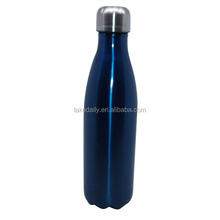 blue/red color vacuum flasks ss sports drinking bottles 500ml cola shape thermos tumblers