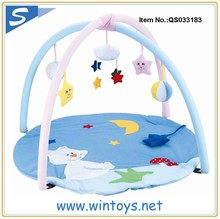 eco-friendly baby non-toxic play gym mat plush cheap baby play mats