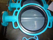 Wafer Type Butterfly Valve in Handle /Worm Gear with Nylon Coated Disc D71X ( DN 40-DN1200)