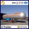 high quality 3 axles hot sale lpg semi trailer, propane transport tank semi trailer