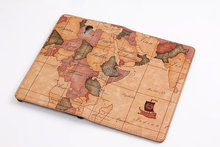 Map pattern pu leather case for samsung galaxy tab t700 ,flip leather case for SG Tab T700