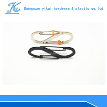 Fashion metal S carabiner/Carabiner Hook for keychain/Metal Keychain Carabiner