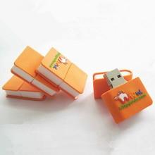 Hot Custom promotion gifts cartoon pvc book usb flash drive 2gb 4gb 8gb 16gb