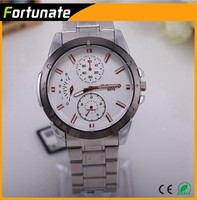 2015 new design luxury business men watch with stainless steel watches for man free shipping