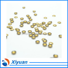 Size 2mm to 10mm Color Gold Wholesale Hotfix Aluminium Iron-on Dome Stud