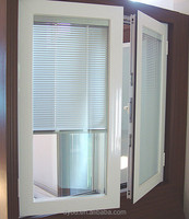 hot-sale modern casement windows with built in blinds