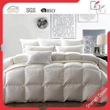 Winter satin down filled comforter, 100% cotton down comforter