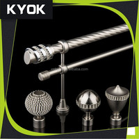 KYOK new designs curtain rods wholesale & wrought iron curtain rods, polished chrome curtain rod