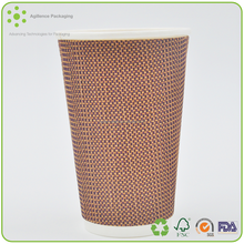 2015 Red Disposable Ripple Cups For Coffee 12oz 16oz S Ripple Coffee Cups With White Lid Wholesale