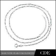 Alibaba Gold Supplier CDE 925 Sterling Silver Chain, Chain Necklace Jewelry Chain