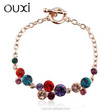 Factory price charm bracelet jewelry made with Swarovski Elements 30272-2