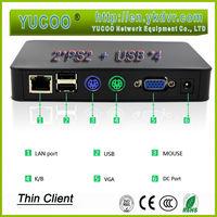 black case shell 4 USB port 1080P HDMI pc station thin client
