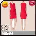 llanura populares caliente venta de navidad roja de vestir para damas