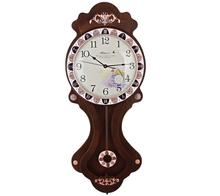 2015 Universal Indoor Wooden Pendulum Analog Wall Clock with Silent Sweep Movement
