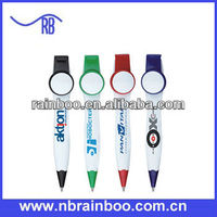Hot selling plastic push action advertising short ballpoint pen for promotion